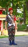 Comandante nepalese della guardia Immagine Stock