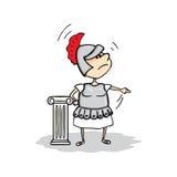 Comandante romano irritado Ilustração da quadriculação ilustração royalty free