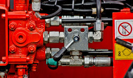 Comandi   del circuito idraulico. Immagine Stock Libera da Diritti