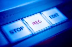 Comandi del registratore fotografia stock libera da diritti