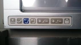 Comandi del sedile del Business class di Boeing 787 del dreamliner di British airways Immagini Stock