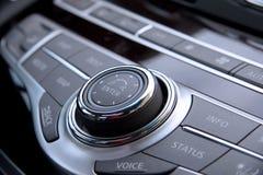 Comandi dell'audio dell'automobile Fotografie Stock
