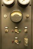 Comandi della centrale elettrica dell'annata Fotografia Stock Libera da Diritti