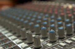 Comandi della scheda audio Fotografie Stock