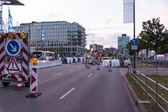 Comandi di misure e di polizia di sicurezza durante il Kieler Woche 2017 Immagini Stock Libere da Diritti