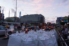 Comandi di misure e di polizia di sicurezza durante il Kieler Woche 2017 Immagine Stock Libera da Diritti