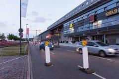 Comandi di misure e di polizia di sicurezza durante il Kieler Woche 2017 Fotografie Stock Libere da Diritti