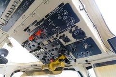 Comando de la cabina del helicóptero Imagen de archivo libre de regalías