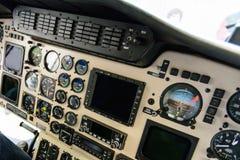 Comando della cabina dell'elicottero Immagini Stock