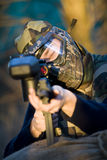 Comando do Paintball Fotografia de Stock Royalty Free