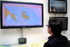 Comando general del rescate para la costa Concordia Fotos de archivo libres de regalías