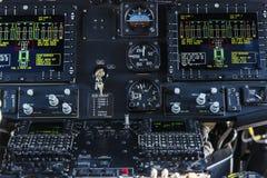 Comando manuale della cabina di pilotaggio fotografia stock libera da diritti