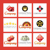 Comapany logos for casinos royalty free illustration
