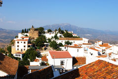 Comares castle and town. Royalty Free Stock Image