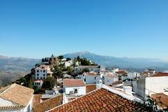 Comares, il tetto dell'Andalusia Immagine Stock