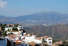 Comares rooftops and mountains. Royalty Free Stock Photos