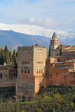 Comares Tower of the Alhambra in Granda, Spain vertical Royalty Free Stock Photography