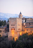 The Comares Tower at sunset, Granada, Spain Stock Photos