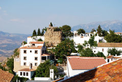Comares town and castle. Royalty Free Stock Image