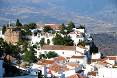 Comares town and castle. Stock Photos