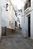 Comares village street. Stock Photos