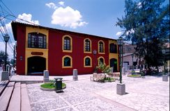 Comayaqua Honduras. Comayaqua's central square in Honduras. (Photo by G. A. Volb/Blovag Royalty Free Stock Photo