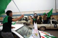 Combóio da campanha de eleição em Iraque fotos de stock royalty free