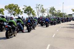 Combóio do motociclista de Motogp imagens de stock royalty free