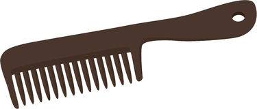 Comb. Illustration of comb on a white background royalty free illustration
