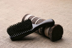 Comb. Men's comb. Expensive wooden comb lying on the cloth Stock Image