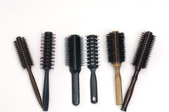 Comb. Compact Black Comb on white background Royalty Free Stock Photos