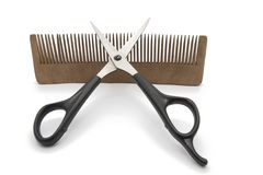 Comb And Clipper Stock Images