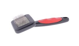 Comb for Animals. Grooming. Isolated on White Stock Image