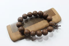 Comb with beads Royalty Free Stock Photo