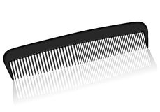 Comb. Black comb on a white background royalty free illustration