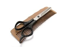 Comb and clipper Royalty Free Stock Photography