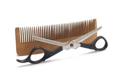 Comb and clipper Royalty Free Stock Photos