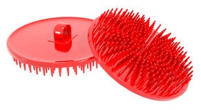 Comb curry red brush hair Royalty Free Stock Photo
