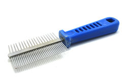 Comb (groomer). For remove fur moult in cats and dogs isolated royalty free stock photos