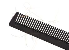 Comb With Hair Royalty Free Stock Image