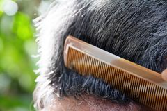 Comb hair Royalty Free Stock Photography