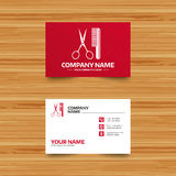 Comb hair with scissors sign icon. Barber symbol. Royalty Free Stock Photo