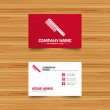 Comb hair sign icon. Barber symbol. Stock Images