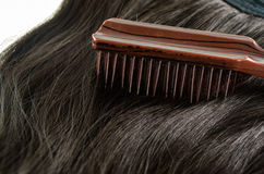 Comb, hairbrush and hair Royalty Free Stock Photo