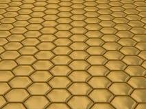 Comb honey. 3D image. Illustrations Stock Image