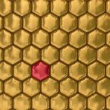 Comb honey. 3D image. Texture. Stock Image