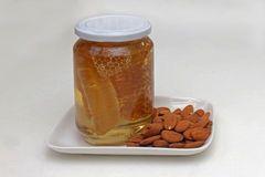 Comb honey jar Stock Image