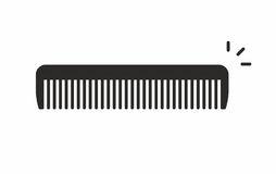 Comb icon. Comb line icon on white background. Vector illustration stock illustration
