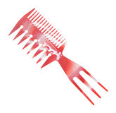 Comb isolated over white Royalty Free Stock Image