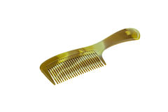 Comb isolated white background. Brown comb isolated white background Stock Image